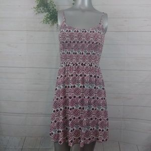 Divided H&M Red Print Tank Dress 4